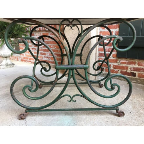 Green 19th Century French Marble Pastry Baker's Table Art Nouveau Green Pâtisserie For Sale - Image 8 of 13