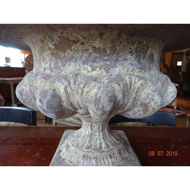 2000 - 2009 Pair of French Terra Cotta Jardinieres For Sale - Image 5 of 10