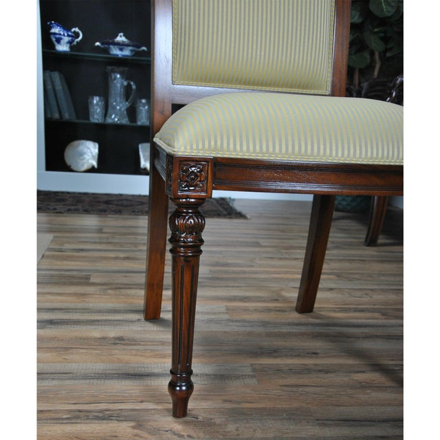 Niagara Furniture Carved Empire Upholstered Side Chair For Sale - Image 9 of 13