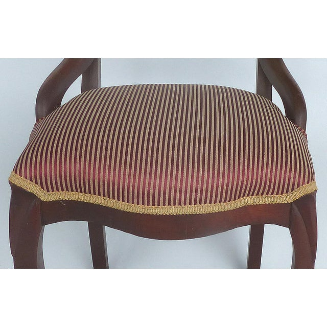 Fabric Balloon Back Dining Chairs-A Pair For Sale - Image 7 of 12