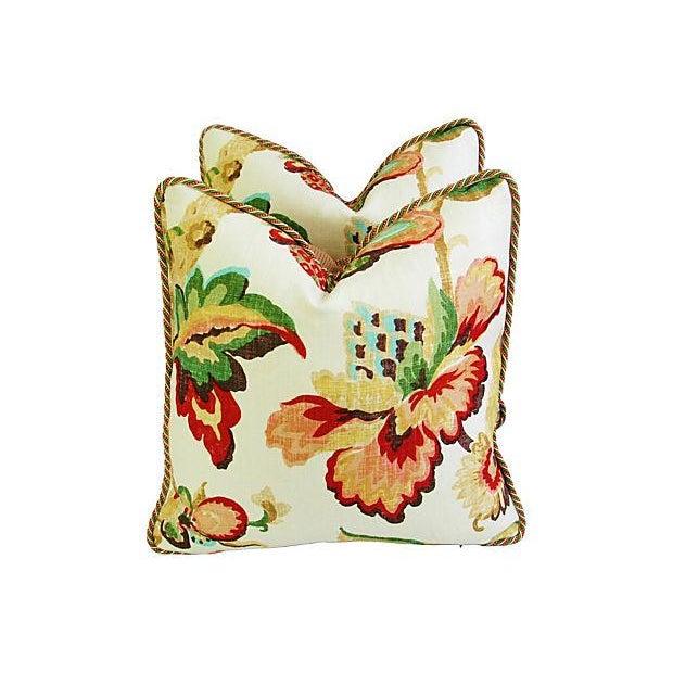 Designer Schumacher Kelmscott Manor Pillows - Pair - Image 2 of 7
