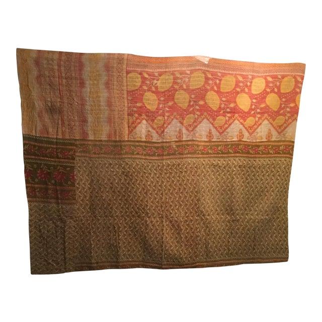 Vintage Kantha Quilt - Image 1 of 6