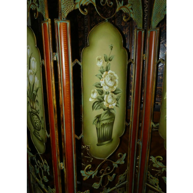 Painted Metal Room Divider/ Floor Screen or Queen Size Headboard For Sale - Image 12 of 13