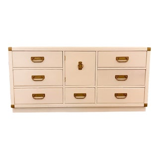 Lacquered Campaign Credenza by Drexel For Sale