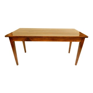 French Provincial Walnut Farm Table For Sale