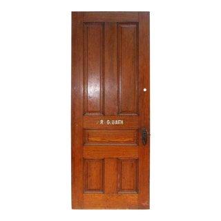 Antique Five-Panel Oak Door
