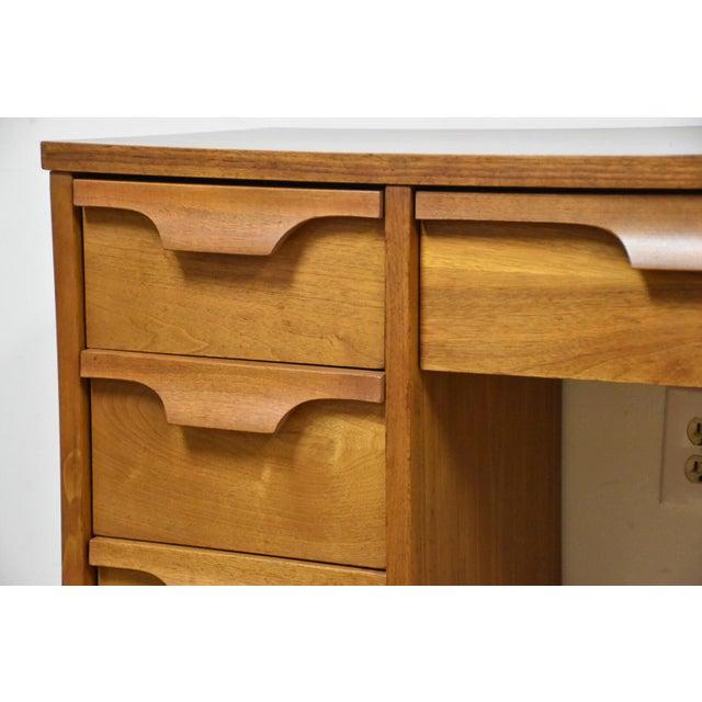 Johnson Carper Walnut & Formica Desk - Image 9 of 9