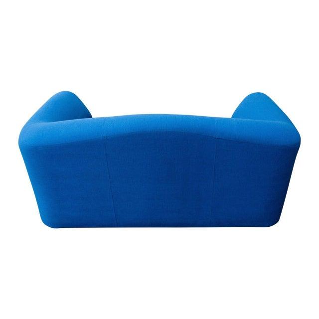 Leolux Modern Blue Loveseat by Leolux For Sale - Image 4 of 6