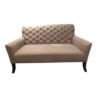 Modern West Elm Traditional Love Seat For Sale