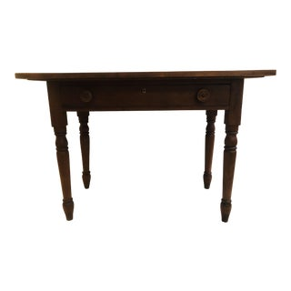 19th Century French Country Walnut Writing Desk For Sale