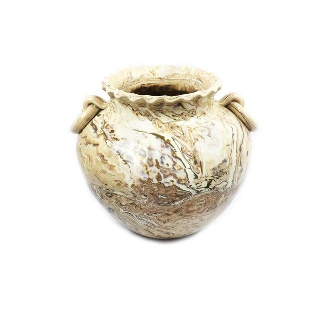 Large Vintage Handmade Clay Vase For Sale - Image 4 of 4
