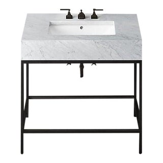 Restoration Hardware Hudson Metal Single Washstand For Sale