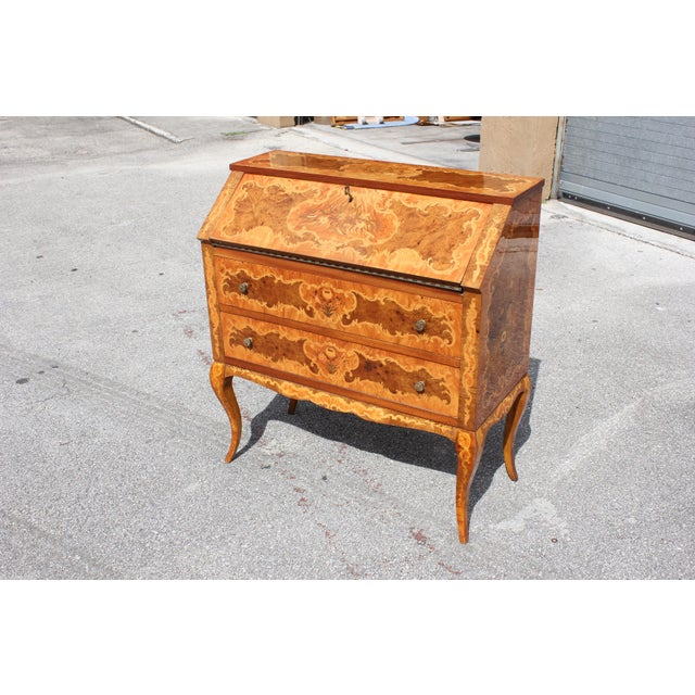 1950s Italian Louis XV Style Luxury Secretary Desk For Sale - Image 12 of 13