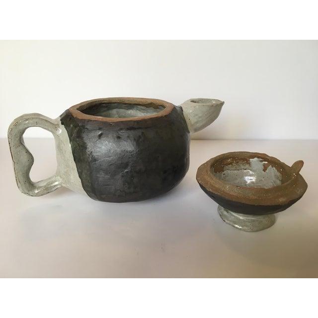 Large Primitive Handmade Tea Pot For Sale - Image 10 of 11