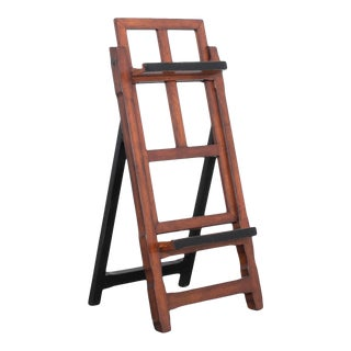 Vintage English Beech Wood Easel For Sale