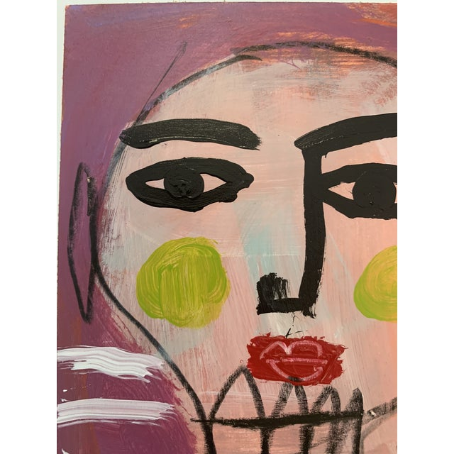 Original Abstract Contemporary Face Painting For Sale - Image 4 of 9