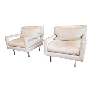 Milo Baughman Lounge Chairs/ Pair