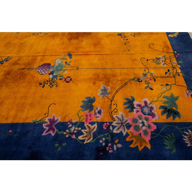 """Textile Apadana-Antique Chinese Rug, 8'10"""" X 11'10"""" For Sale - Image 7 of 10"""