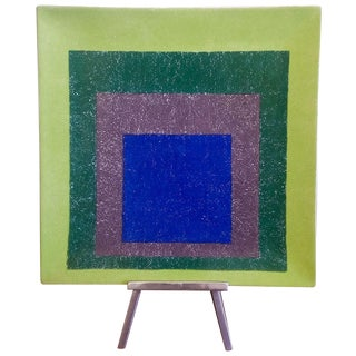 Josef Albers Homage to a Square Platter Ltd. Edtn For Sale