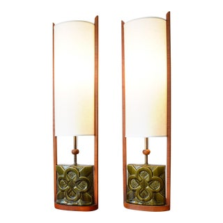 1960s Mid Century Modern Lamps Attributed to Modeline - a Pair For Sale