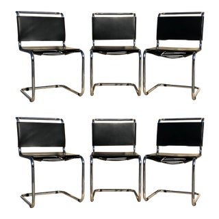 Set of 6 Marcel Breuer Dinning Chairs For Sale