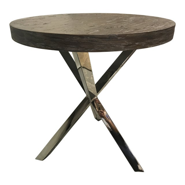 Minimalist Pelham Round Chairside Table For Sale