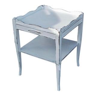 1940s Farmhouse Antique White Side Table For Sale