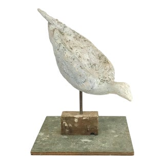 Late 20th Century Painted Fiberglass Bird Sculpture on Stand For Sale