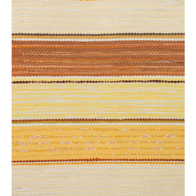 """Contemporary Swedish Handwoven Rug - 7'2"""" X 2'6"""" For Sale - Image 3 of 4"""
