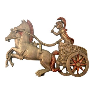 1970s Vintage Burwood Roman Chariot Statement Wall Art For Sale