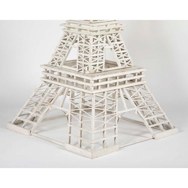 American 1950s Handmade Eiffel Tower Folk Art For Sale - Image 3 of 5