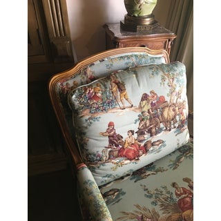 """Vintage Baker Provincial French Country """"Bergere"""" Armchair & Ottoman Preview"""