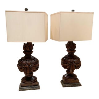 18th Century Architectural Fragments Made Into Lamps - a Pair For Sale