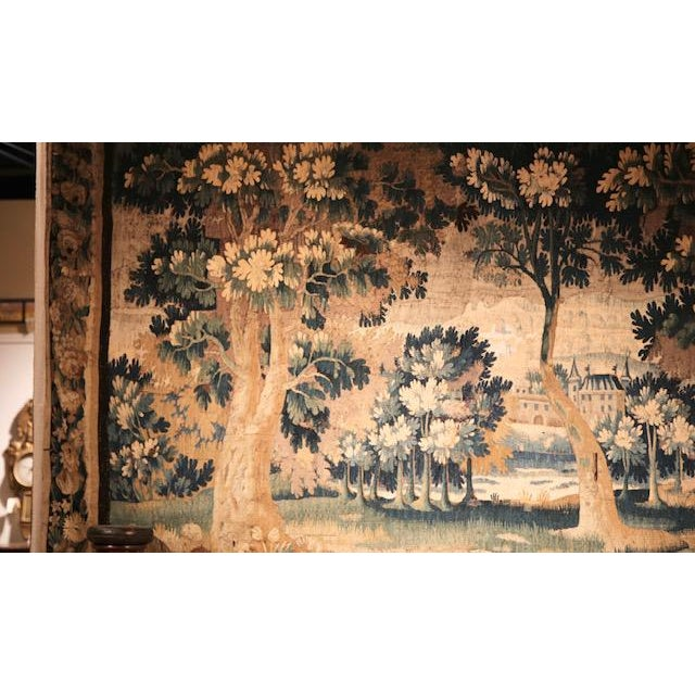 Green Circa 1760 Aubusson Tapestry For Sale - Image 8 of 10