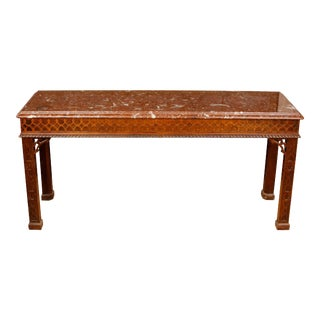 George III Style Mahogany Console For Sale