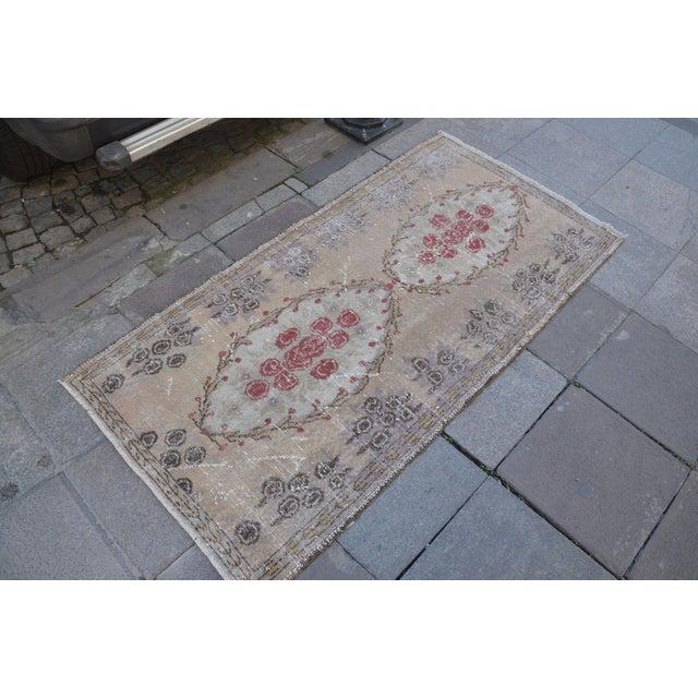 Islamic Turkish Overdyed Floor Rug- 2′11″ × 5′9″ For Sale - Image 3 of 6