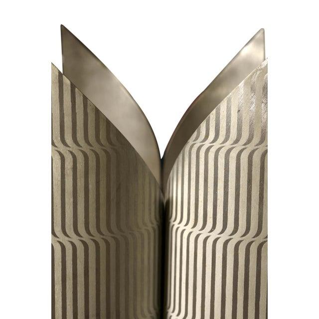 Modern Lorenzo Burchiellaro Printed Aluminium Floor Lamp For Sale - Image 3 of 6