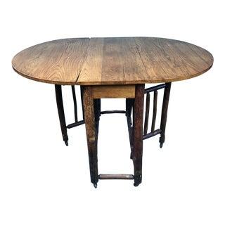 Antique Adirondack Gate-Leg Table For Sale