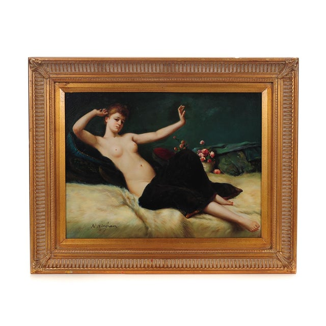 Reclining Female Oil Painting by N. Bingham - Image 1 of 8