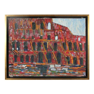 """The Colosseum, Rome"" Italian Oil on Canvas, 1971 For Sale"