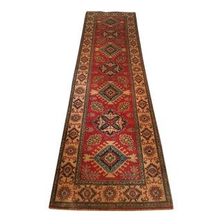 Kazak Wool Runner Rug - 2′8″ × 9′7″
