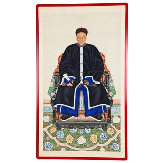 Chinese Ancestor Portrait of a Mandarin For Sale