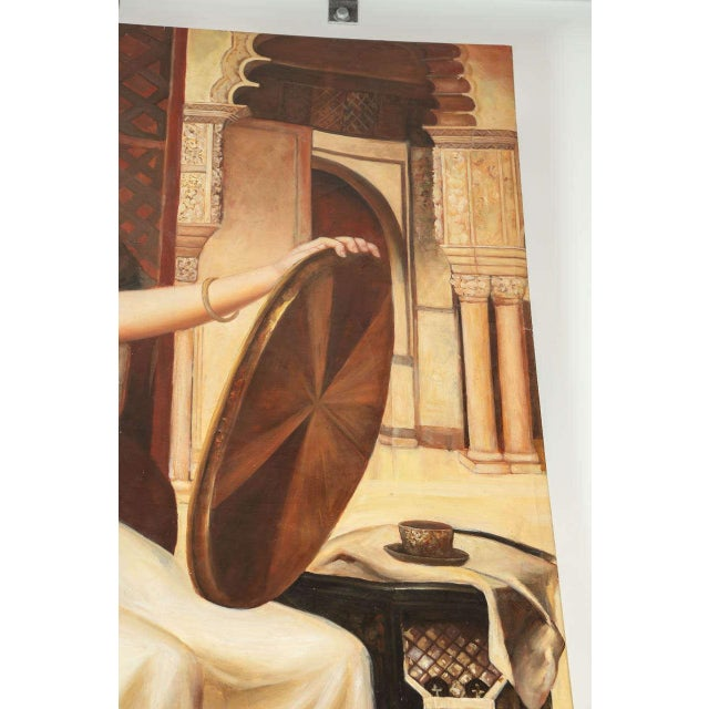 Large Orientalist Oil on Canvas For Sale In Los Angeles - Image 6 of 7