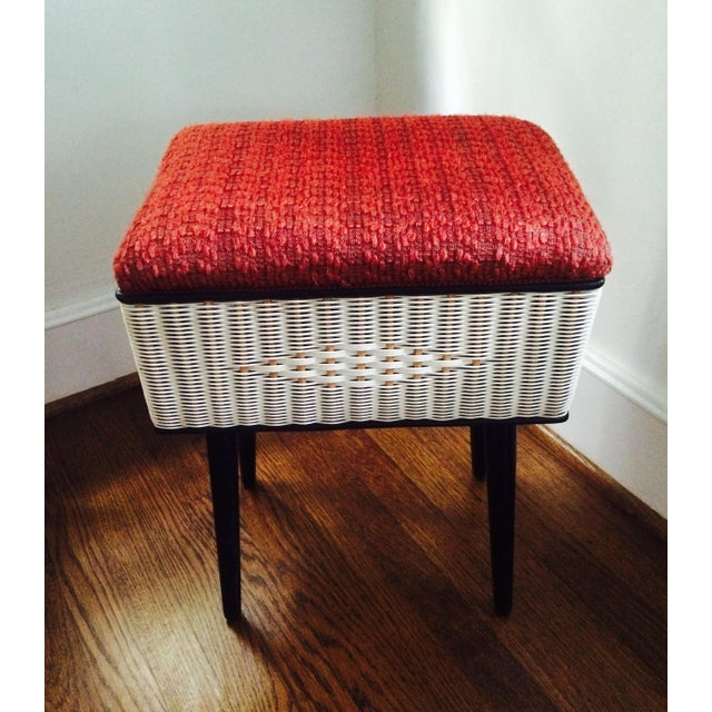 Vintage Sewing Basket With Pencil Legs - Image 10 of 11