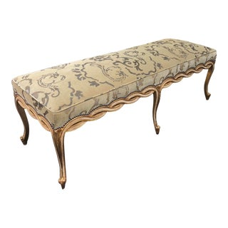 Regency Style Designer Ribbon Long Bench by Randy Esada Designs for Prospr For Sale