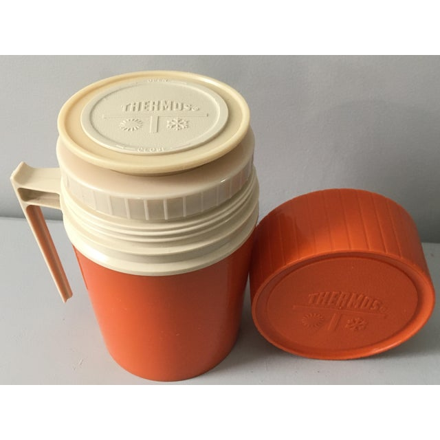 Mid-Century Modern Orange Thermos Brand Kitchen / Bar Accent For Sale - Image 9 of 10