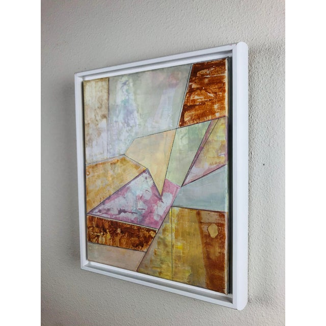 Contemporary Contemporary Geometric Abstract Acrylic Painting, Framed For Sale - Image 3 of 6