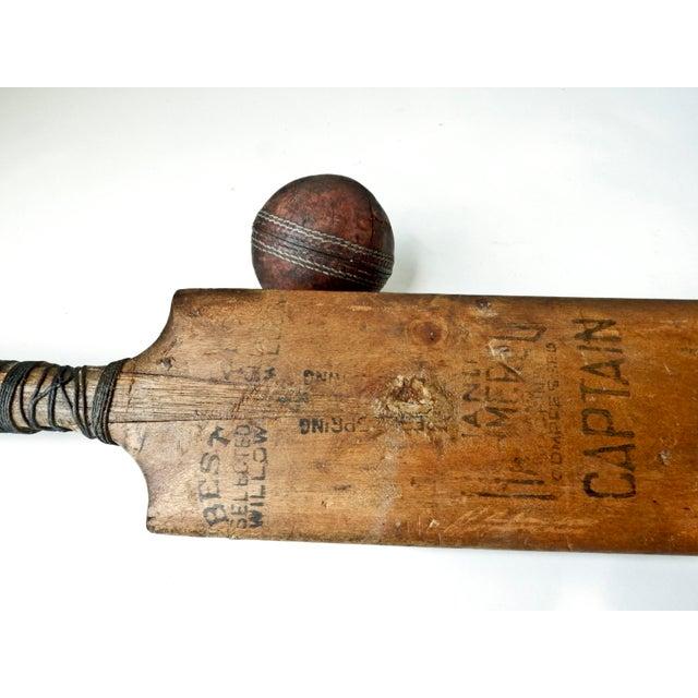 Vintage English Cricket Bat, Cricket Ball Captain - Image 3 of 7