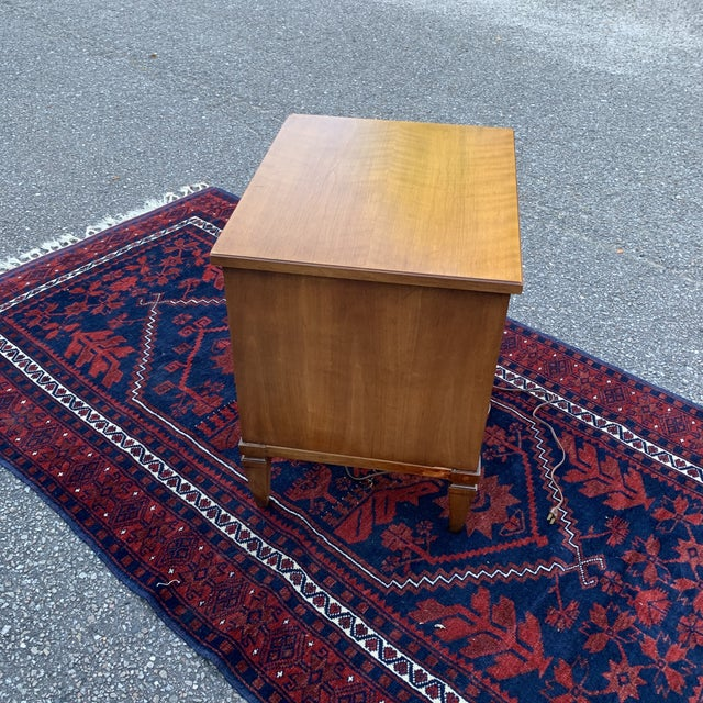 Brown Vintage 20th Century Italian Neoclassical Henredon Nightstand For Sale - Image 8 of 11