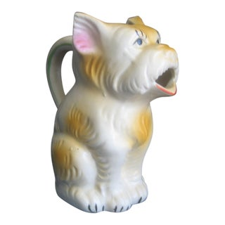 Last Markdown. Will Be Removed on July 31st.1930's Japanese Scottie Dog Pitcher